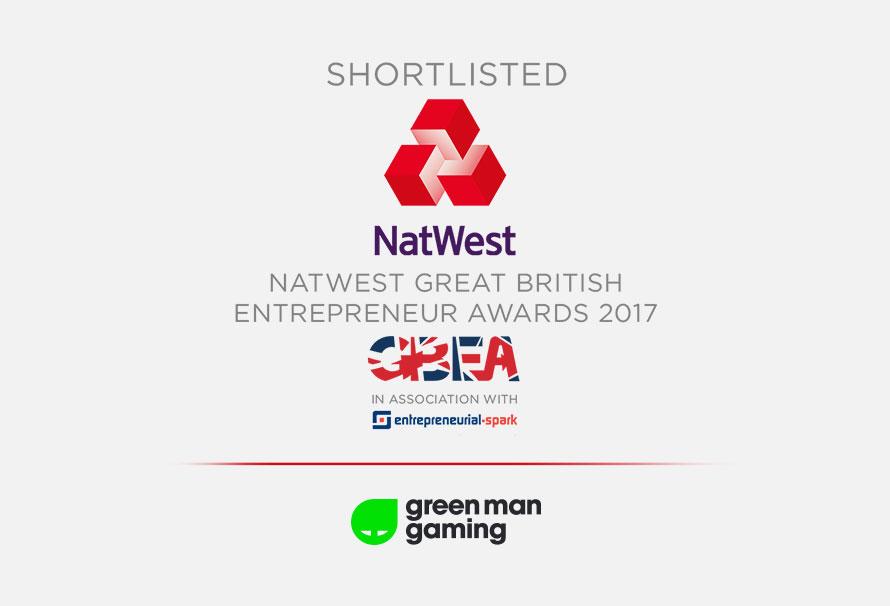 Green Man Gaming CEO Shortlisted for GB Entrepreneur Award