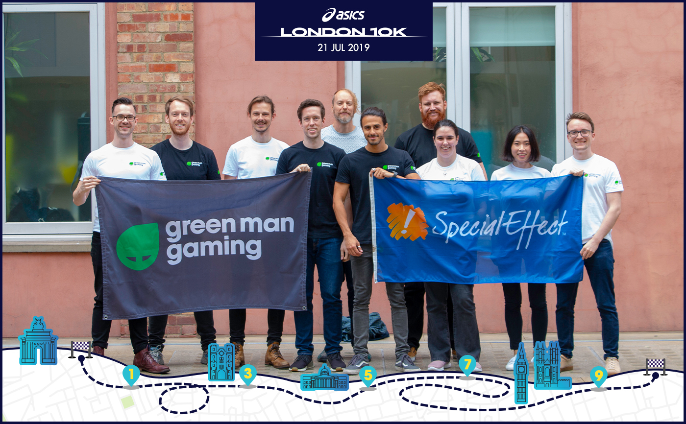 Green Man Gaming to run 10k marathon for Special Effect charity