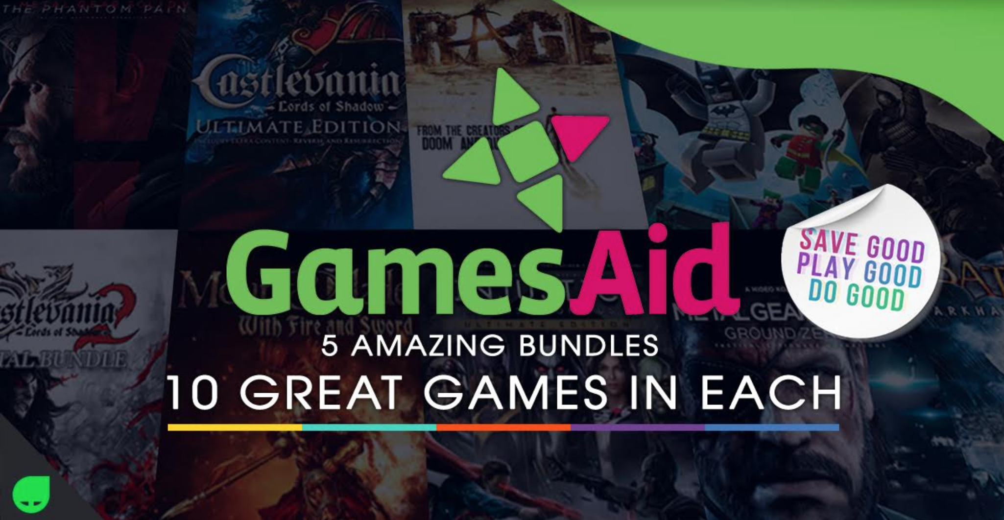 Green Man Gaming partners with game publishers and GamesAid to launch brand new charity bundle
